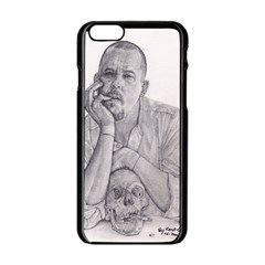 Alexander Mcqueen Pencil Drawing Apple Iphone 6/6s Black Enamel Case by KentChua