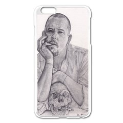 Alexander Mcqueen Pencil Drawing Apple Iphone 6 Plus/6s Plus Enamel White Case by KentChua