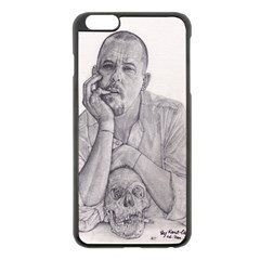Alexander Mcqueen Pencil Drawing Apple Iphone 6 Plus/6s Plus Black Enamel Case by KentChua