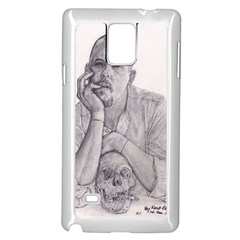 Alexander Mcqueen Pencil Drawing Samsung Galaxy Note 4 Case (white) by KentChua