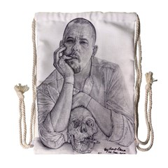 Alexander Mcqueen Pencil Drawing Drawstring Bag (large) by KentChua