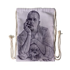 Alexander Mcqueen Pencil Drawing Drawstring Bag (small) by KentChua