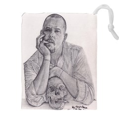 Alexander Mcqueen Pencil Drawing Drawstring Pouches (xxl) by KentChua