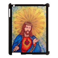 Scared Heart Of Jesus Christ Drawing Apple Ipad 3/4 Case (black) by KentChua