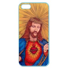 Sacred Heart Of Jesus Christ Drawing Apple Seamless Iphone 5 Case (color) by KentChua