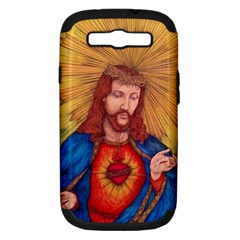 Sacred Heart Of Jesus Christ Drawing Samsung Galaxy S Iii Hardshell Case (pc+silicone) by KentChua