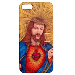 Sacred Heart Of Jesus Christ Drawing Apple Iphone 5 Hardshell Case With Stand by KentChua