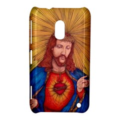 Sacred Heart Of Jesus Christ Drawing Nokia Lumia 620 by KentChua