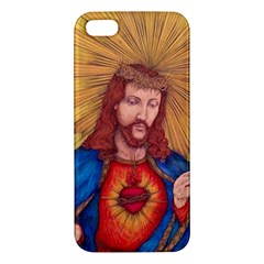 Sacred Heart Of Jesus Christ Drawing Iphone 5s Premium Hardshell Case by KentChua