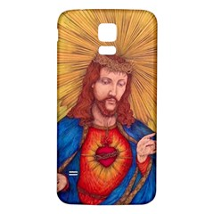 Sacred Heart Of Jesus Christ Drawing Samsung Galaxy S5 Back Case (white) by KentChua