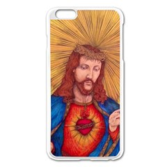 Sacred Heart Of Jesus Christ Drawing Apple Iphone 6 Plus/6s Plus Enamel White Case by KentChua