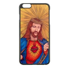 Sacred Heart Of Jesus Christ Drawing Apple Iphone 6 Plus/6s Plus Black Enamel Case by KentChua