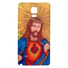 Sacred Heart Of Jesus Christ Drawing Galaxy Note 4 Back Case by KentChua