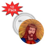 Sacred Heart Of Jesus Christ Drawing 1 75  Buttons (10 Pack) by KentChua
