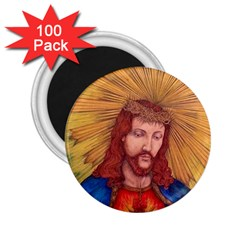 Sacred Heart Of Jesus Christ Drawing 2 25  Magnets (100 Pack)  by KentChua