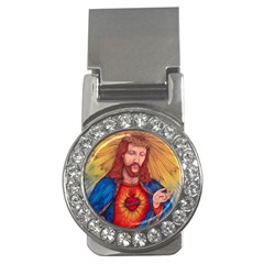 Sacred Heart Of Jesus Christ Drawing Money Clips (cz)  by KentChua