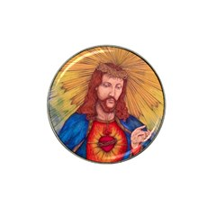 Sacred Heart Of Jesus Christ Drawing Hat Clip Ball Marker (4 Pack) by KentChua