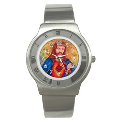 Sacred Heart Of Jesus Christ Drawing Stainless Steel Watches by KentChua