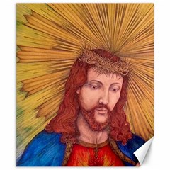 Sacred Heart Of Jesus Christ Drawing Canvas 8  x 10  by KentChua