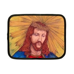 Sacred Heart Of Jesus Christ Drawing Netbook Case (small)  by KentChua