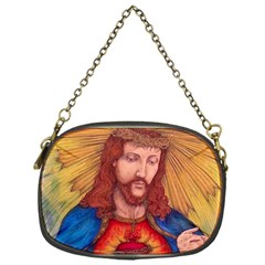 Sacred Heart Of Jesus Christ Drawing Chain Purses (one Side)  by KentChua