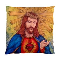 Sacred Heart Of Jesus Christ Drawing Standard Cushion Cases (two Sides)  by KentChua