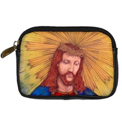 Sacred Heart Of Jesus Christ Drawing Digital Camera Cases by KentChua