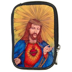 Sacred Heart Of Jesus Christ Drawing Compact Camera Cases by KentChua