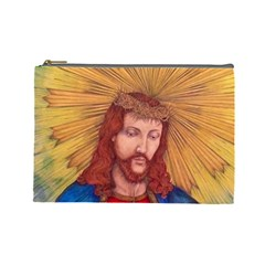 Sacred Heart Of Jesus Christ Drawing Cosmetic Bag (large)  by KentChua