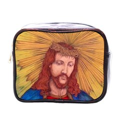 Sacred Heart Of Jesus Christ Drawing Mini Toiletries Bags by KentChua