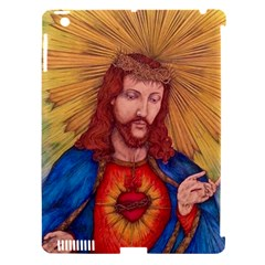 Sacred Heart Of Jesus Christ Drawing Apple Ipad 3/4 Hardshell Case (compatible With Smart Cover) by KentChua