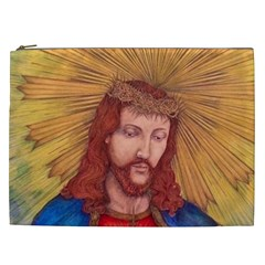 Sacred Heart Of Jesus Christ Drawing Cosmetic Bag (xxl)  by KentChua