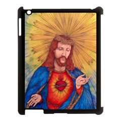 Sacred Heart Of Jesus Christ Drawing Apple Ipad 3/4 Case (black) by KentChua