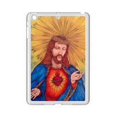 Sacred Heart Of Jesus Christ Drawing Ipad Mini 2 Enamel Coated Cases by KentChua