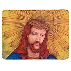 Sacred Heart Of Jesus Christ Drawing Samsung Galaxy Tab 7  P1000 Flip Case by KentChua