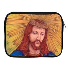 Sacred Heart Of Jesus Christ Drawing Apple Ipad 2/3/4 Zipper Cases by KentChua