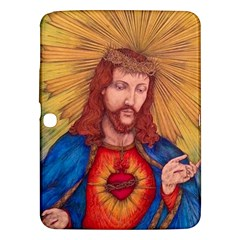 Sacred Heart Of Jesus Christ Drawing Samsung Galaxy Tab 3 (10 1 ) P5200 Hardshell Case  by KentChua