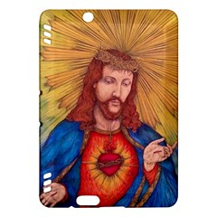 Sacred Heart Of Jesus Christ Drawing Kindle Fire Hdx Hardshell Case by KentChua