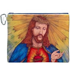 Sacred Heart Of Jesus Christ Drawing Canvas Cosmetic Bag (XXXL)  by KentChua