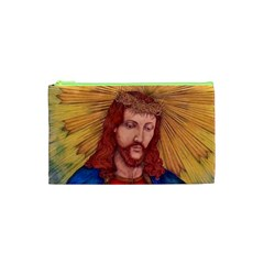 Sacred Heart Of Jesus Christ Drawing Cosmetic Bag (xs) by KentChua