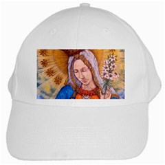 Immaculate Heart Of Virgin Mary Drawing White Cap by KentChua