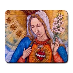 Immaculate Heart Of Virgin Mary Drawing Large Mousepads by KentChua