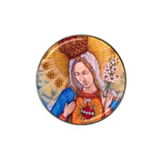Immaculate Heart Of Virgin Mary Drawing Hat Clip Ball Marker (4 Pack) by KentChua