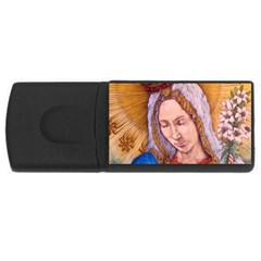Immaculate Heart Of Virgin Mary Drawing Usb Flash Drive Rectangular (4 Gb)  by KentChua