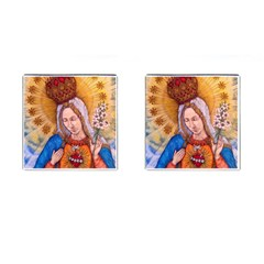 Immaculate Heart Of Virgin Mary Drawing Cufflinks (square)