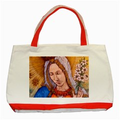 Immaculate Heart Of Virgin Mary Drawing Classic Tote Bag (red)  by KentChua