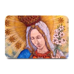 Immaculate Heart Of Virgin Mary Drawing Plate Mats by KentChua