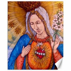 Immaculate Heart Of Virgin Mary Drawing Canvas 11  X 14   by KentChua