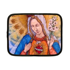 Immaculate Heart Of Virgin Mary Drawing Netbook Case (small)  by KentChua