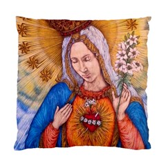 Immaculate Heart Of Virgin Mary Drawing Standard Cushion Case (one Side)  by KentChua